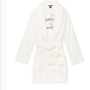 Logo Short Cozy Robe Victoria Secret